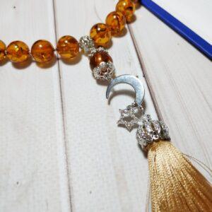 мусульманские четки из янтаря