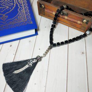 Именные мусульманские четки с серебром