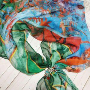 Тонкий шелковый платок